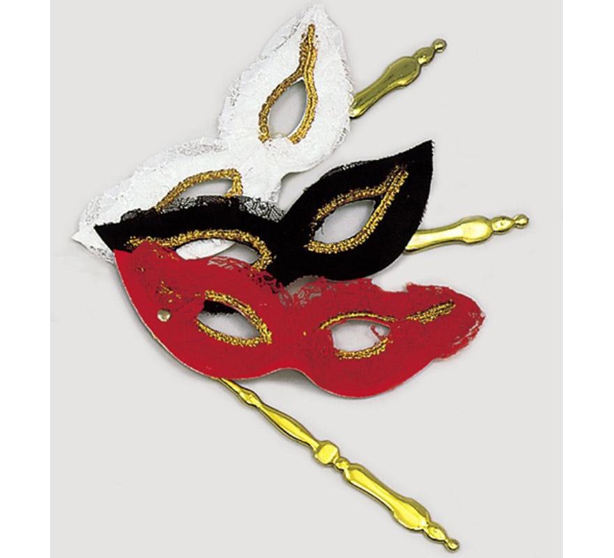 Antifaz BELLE EPOQUE con soporte. Ideal para tu disfraz de Época o Veneciano.