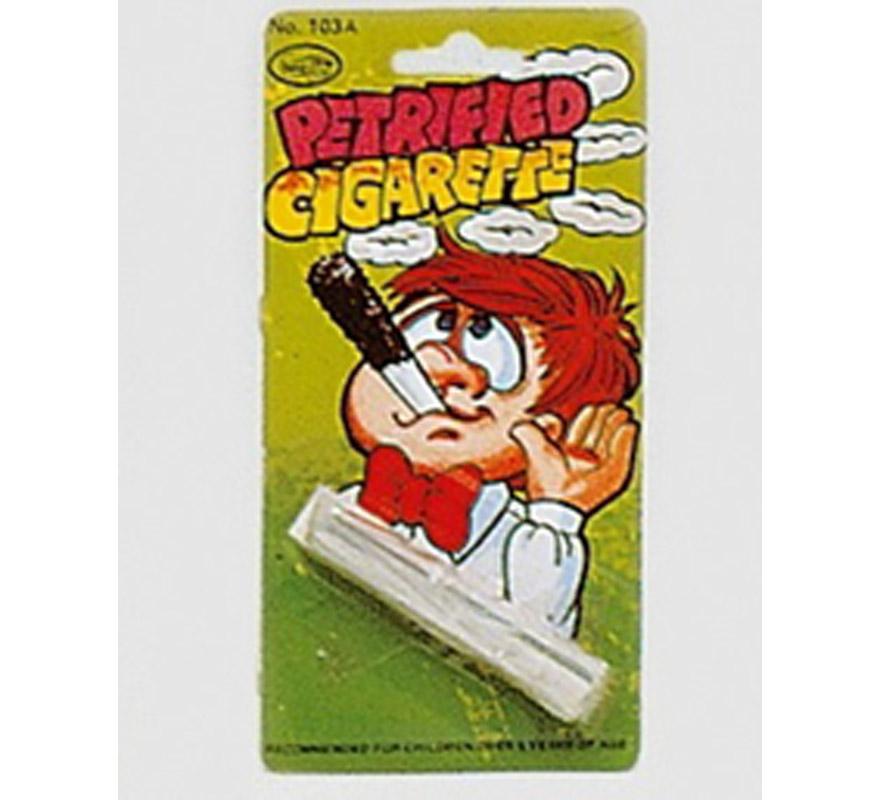 Cigarrillo petrificado. Lleva 2 varillas metálicas. La metes dentro del cigarrillo y no cae la ceniza, por lo tanto te quedas con el que lo está viendo.
