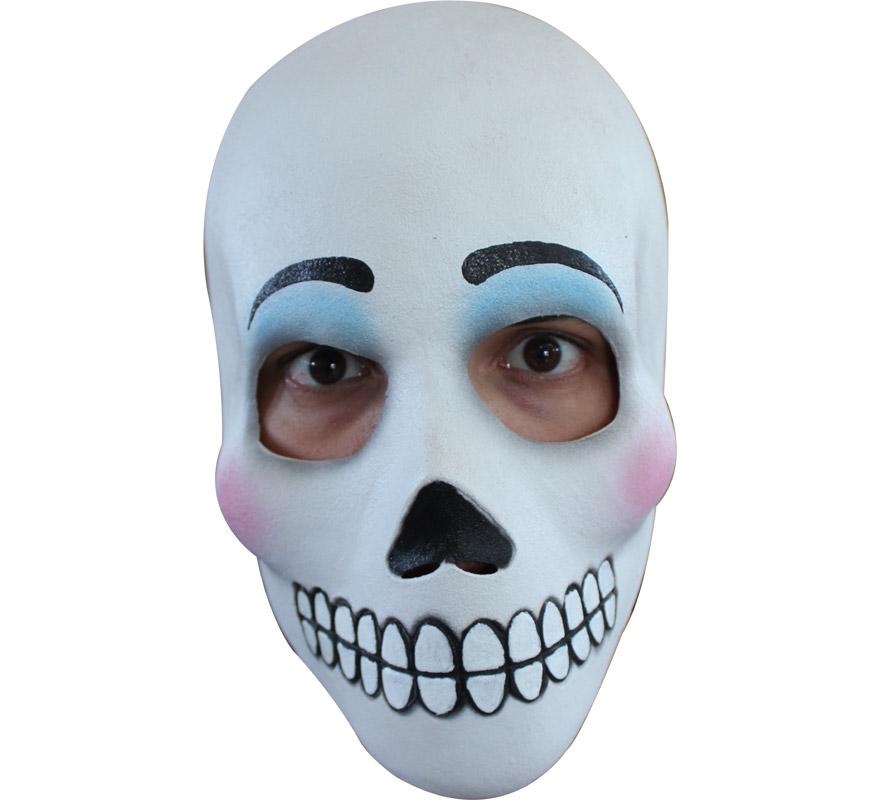 Máscara Día de los Difuntos Catrina Calavera para Halloween. Alta calidad. Fabricada en látex artesanalmente por una empresa que hace efectos especiales para Hollywood. También conocida como Calavera Garbancera.