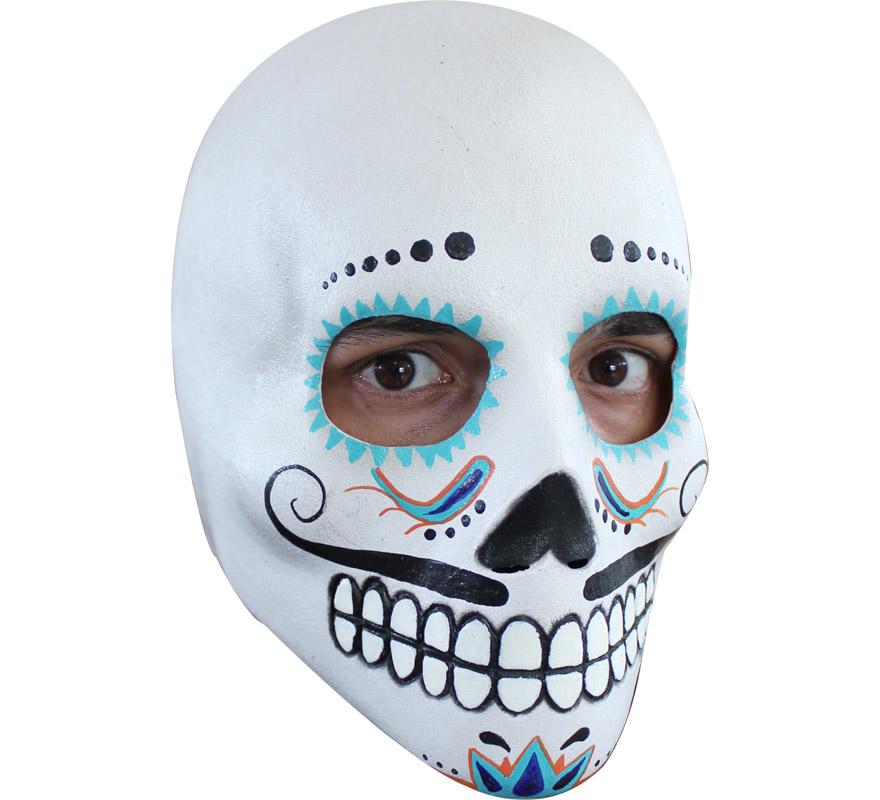 Máscara de Catrin de látex para Halloween. Alta calidad. Fabricada en látex artesanalmente por una empresa que hace efectos especiales para Hollywood. Máscara de Calavera Elegante diferente y muy original. Está inspirada en una Historia o Leyenda Mejicana que se rememora el Día de los Muertos.