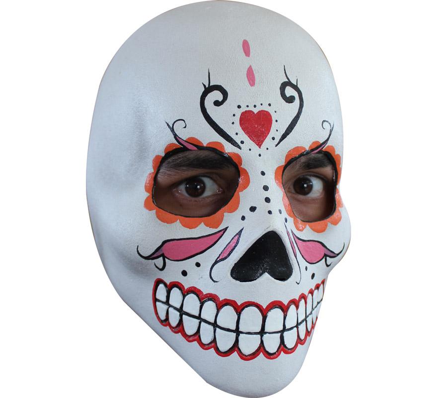 Máscara de Catrina de látex para Halloween