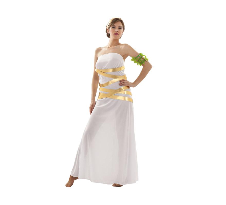 Disfraz de Diosa Artemisa para mujer. Talla Standar M-L = 38/42. Incluye vestido, brazalete y cinta de la cabeza. Disfraz de Romana para mujer.