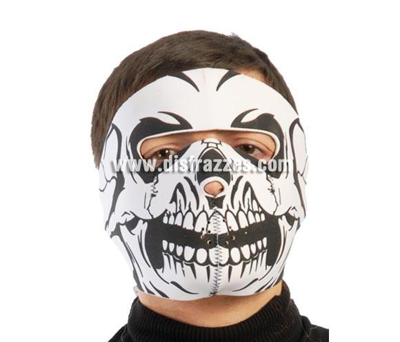 Careta o Máscara de Calavera de tela para Halloween.