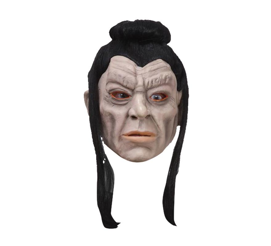 Máscara de Samurai de látex con pelos de 280gr