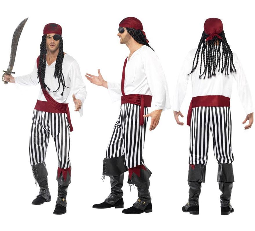 Disfraz de Pirata talla L 46/48. No incluye parche, botas, peluca ni espada . Completa tu disfraz con los artículos de nuestra sección de complementos