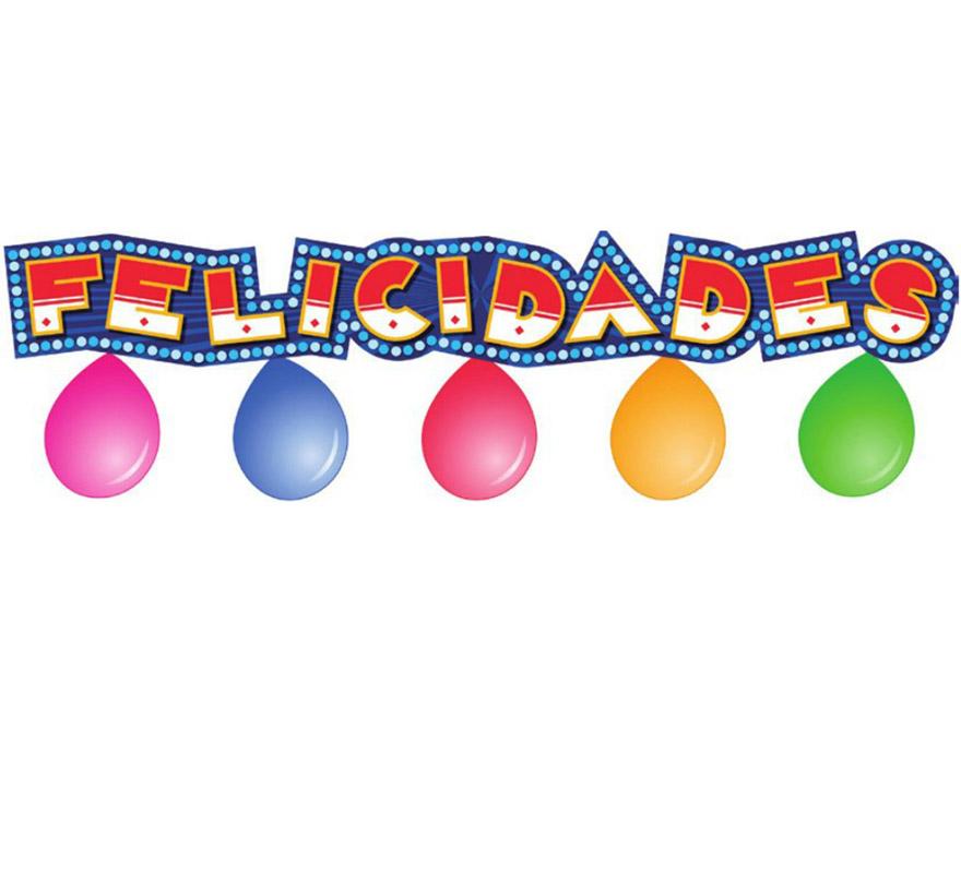 Guirnalda circus felicidades con 5 globos.