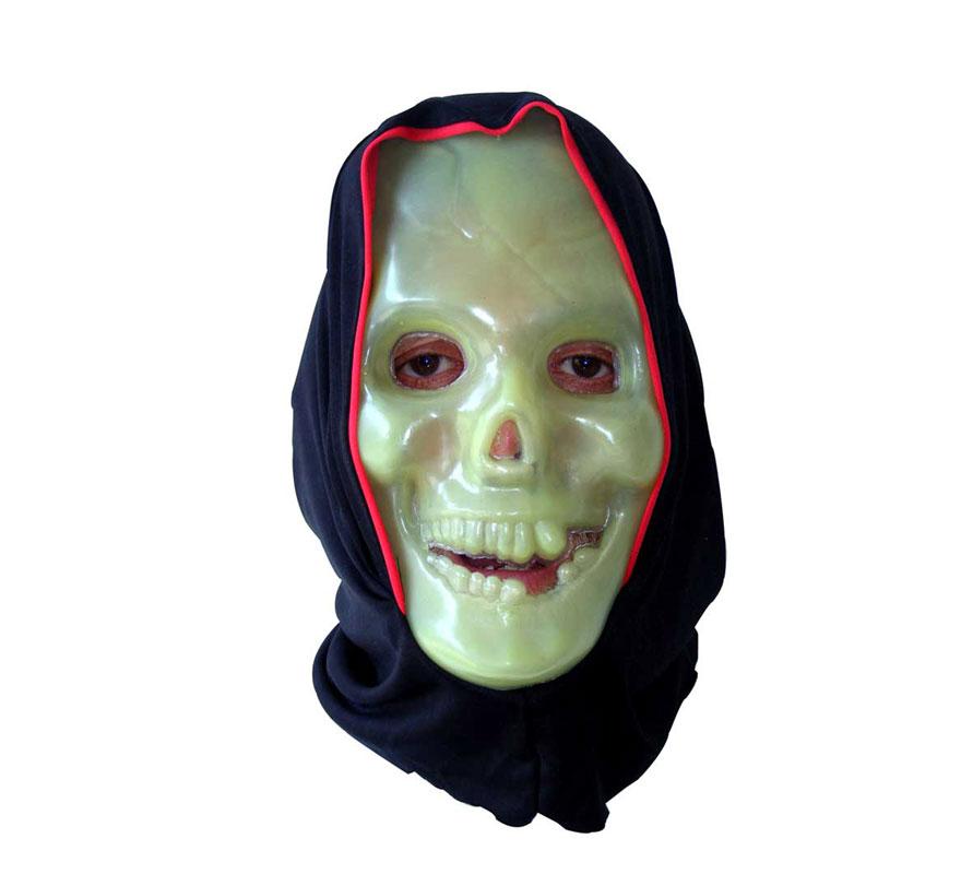 Máscara de Esqueleto Calavera con capucha.
