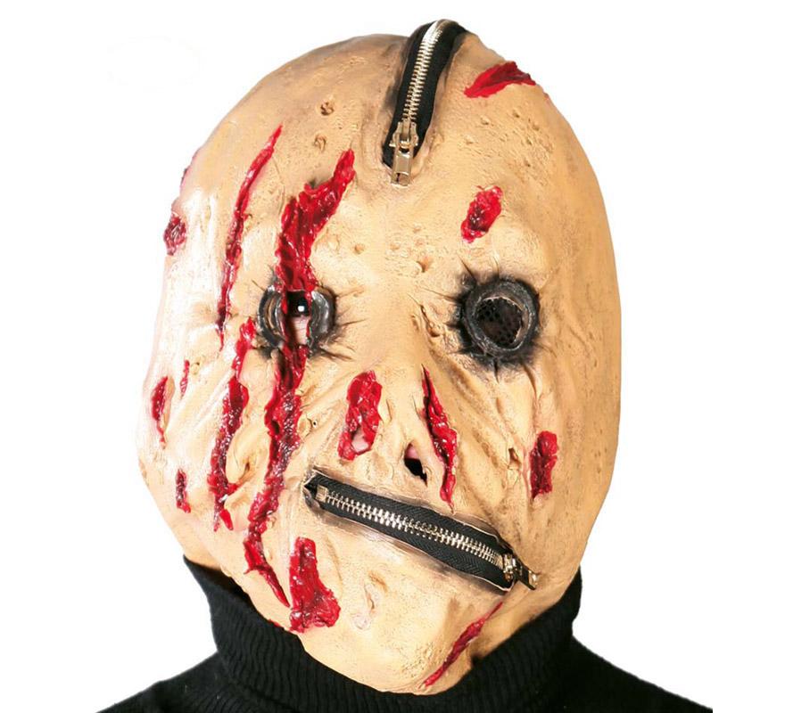 Careta o Máscara de Monstruo con cremalleras para Halloween.