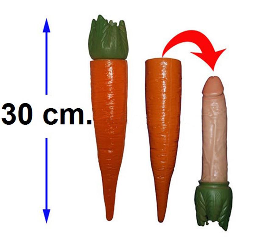 Zanahoria con sorpresa de 30 cm. Ideal para Despedidas de Soltero o Soltera.