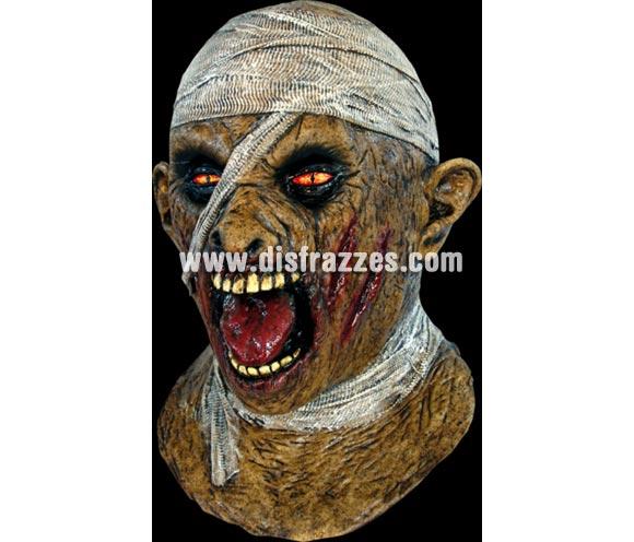 Máscara de Momia Tutankhamun de látex Halloween. Alta calidad. Fabricada en látex artesanalmente por una empresa que hace efectos especiales para Hollywood. Máscara de Viejo de latex para Halloween. La boca se mueve cuando hablas. Con ésta máscara de Tutancamon darás mucho miedo éste Halloween.