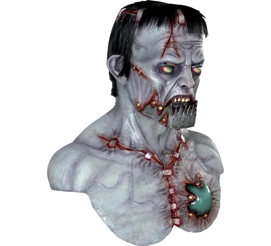 Máscara Mega Franky Frankenstein para Halloween. Alta calidad. Fabricada en látex artesanalmente por una empresa que hace efectos especiales para Hollywood.