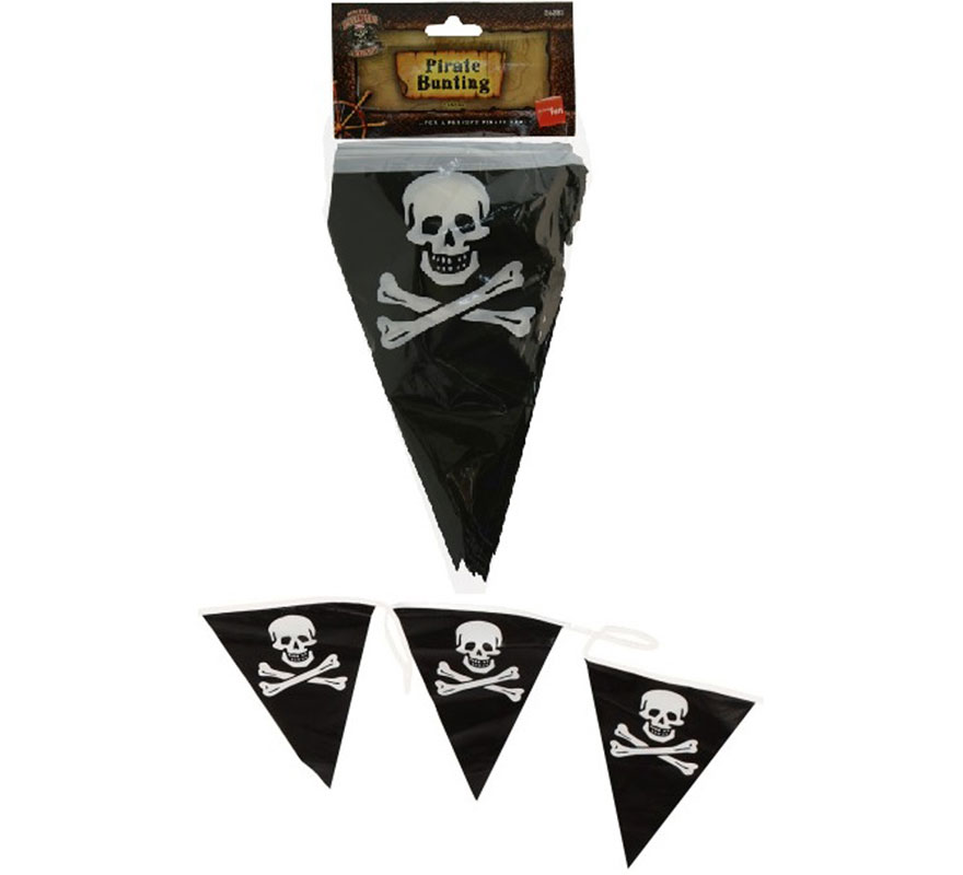 Guirnalda de Banderines Piratas. ¡¡¡ Perfecto para decorar tus fiestas piratas o cumpleaños !!!