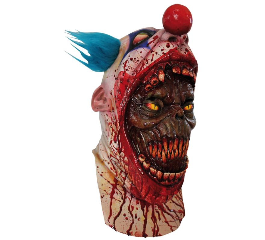 Coulrophobia máscara de látex. Alta calidad. Fabricada en látex artesanalmente por una empresa que hace efectos especiales para Hollywood. Máscara de cabeza entera. Es verdaderamente impresionante cómo nuestra mente puede crearnos verdadero pánico a algo que para el resto de personas es incluso gracioso. Máscara de Payaso poseído.