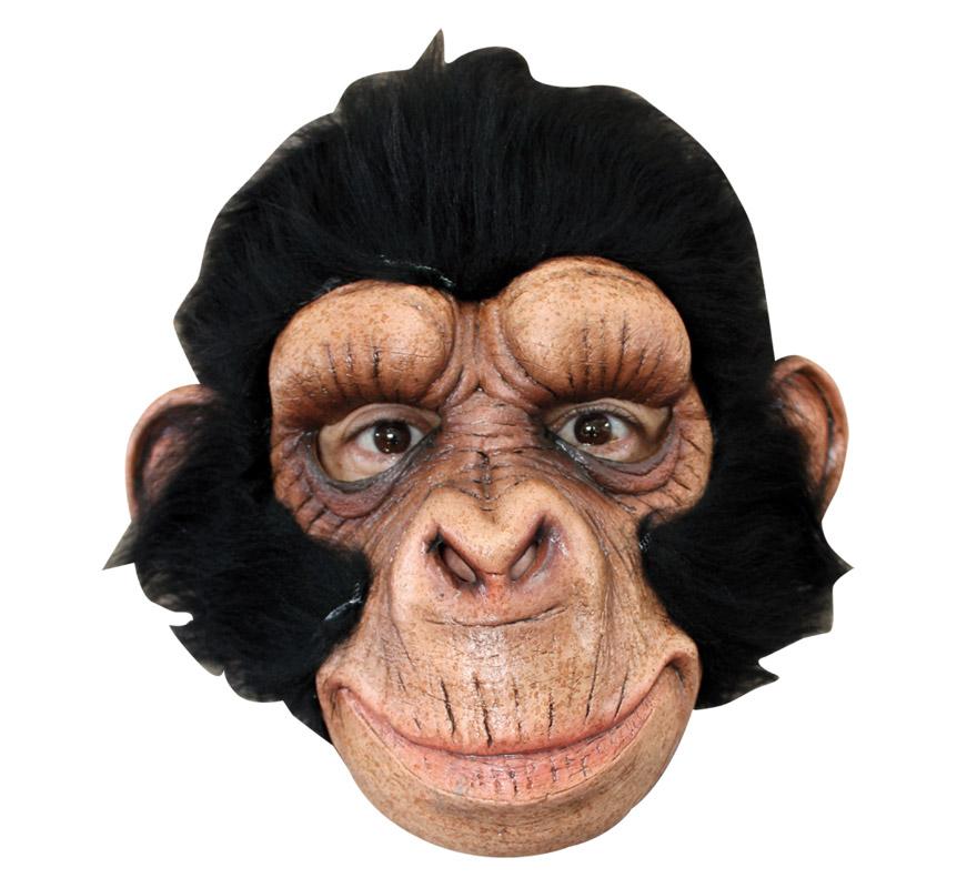 Máscara Chimp George de látex para Halloween. Alta calidad. Fabricada en látex artesanalmente por una empresa que hace efectos especiales para Hollywood. Máscara de Chimpancé, Mono o Gorila para dar terror en Halloween.