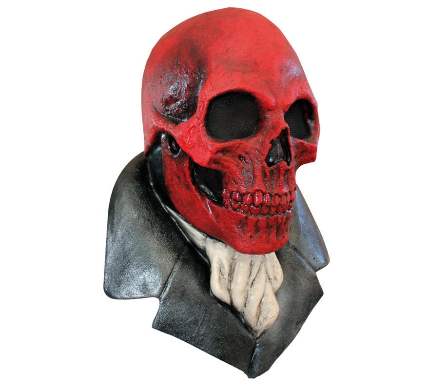 Máscara The Redskull Calavera Roja para Halloween. Alta calidad. Fabricada en látex artesanalmente por una empresa que hace efectos especiales para Hollywood. Podrás imitar a Calavera Roja, enemigo del Capitán América en la conocida película y comic .