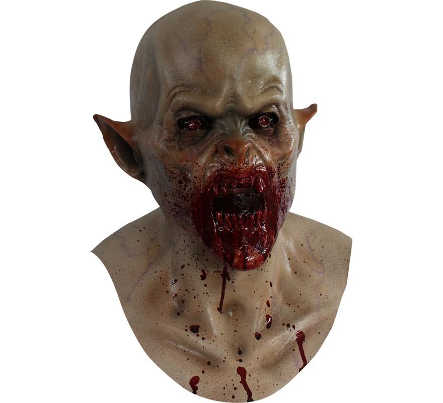 Máscara Ravnos de látex para Halloween. Alta calidad. Fabricada en látex artesanalmente por una empresa que hace efectos especiales para Hollywood. Máscara de Vampiro para dar terror en Halloween.