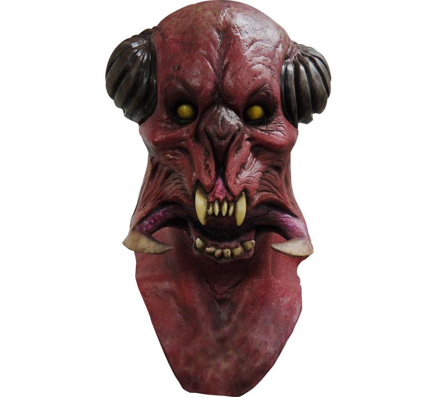 Máscara Galactic Bug de látex para Halloween. Alta calidad. Fabricada en látex artesanalmente por una empresa que hace efectos especiales para Hollywood. Máscara de Diablo Galáctico para dar terror en Halloween.