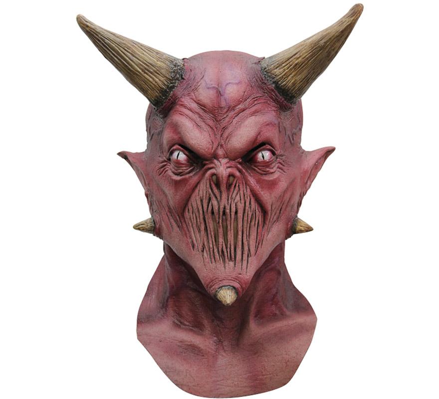 Máscara Kalifax Devil de látex para Halloween. Alta calidad. Fabricada en látex artesanalmente por una empresa que hace efectos especiales para Hollywood. Máscara de El Diablo Kalifax para dar terror en Halloween.