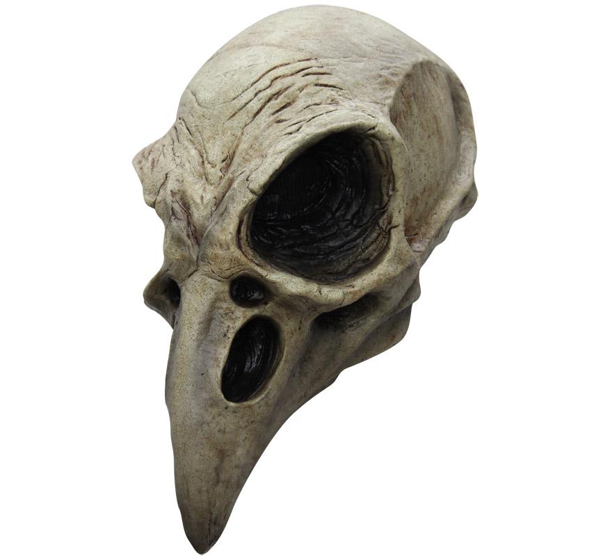 Máscara Crow Skull de látex para Halloween. Alta calidad. Fabricada en látex artesanalmente por una empresa que hace efectos especiales para Hollywood. Máscara Calavera de Cuervo para dar terror en Halloween.