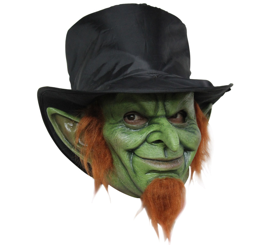Máscara Mad Goblin Leprechaun para Halloween