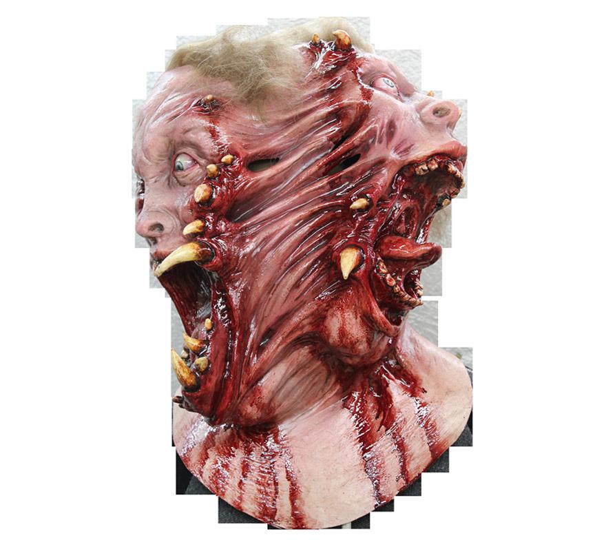 Máscara Siamese de látex para Halloween. Alta calidad. Fabricada en látex artesanalmente por una empresa que hace efectos especiales para Hollywood. Máscara de Zombies Siameses para dar terror en Halloween.