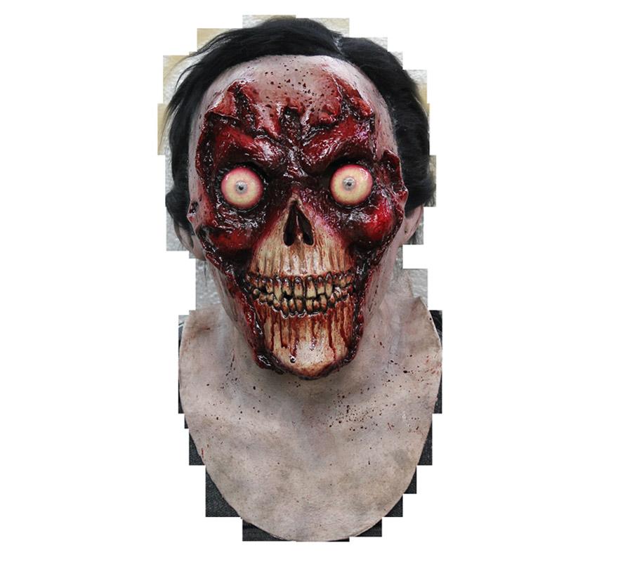 Máscara Face Off de látex para Halloween. Alta calidad. Fabricada en látex artesanalmente por una empresa que hace efectos especiales para Hollywood. Máscara de Zombie sin cara o sin rostro para dar terror en Halloween.