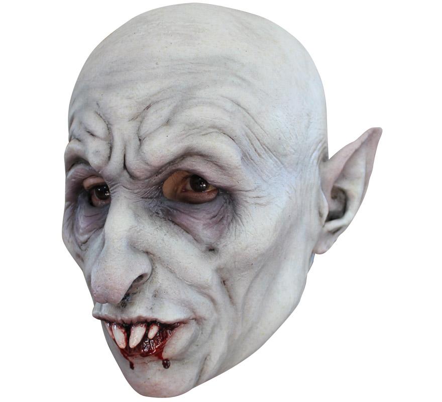 Máscara Nosferatus de látex para Halloween. Alta calidad. Fabricada en látex artesanalmente por una empresa que hace efectos especiales para Hollywood. Máscara de Vampiro Nosferatus para dar terror en Halloween.
