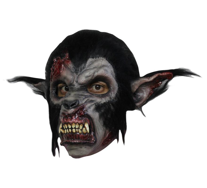 Máscara Nigth Wolf de látex para Halloween. Alta calidad. Fabricada en látex artesanalmente por una empresa que hace efectos especiales para Hollywood. Máscara de Lobo de la Noche para dar terror en Halloween.