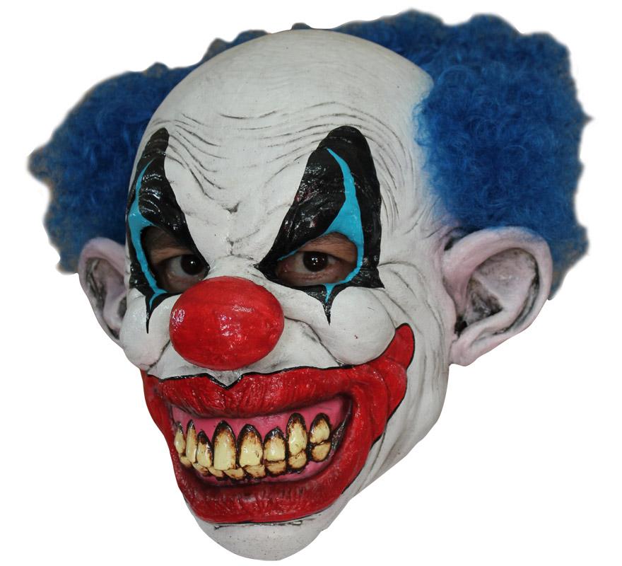 Máscara Puddles The Clown de látex para Halloween. Alta calidad. Fabricada en látex artesanalmente por una empresa que hace efectos especiales para Hollywood. Máscara de El Payaso Charco para dar terror en Halloween.