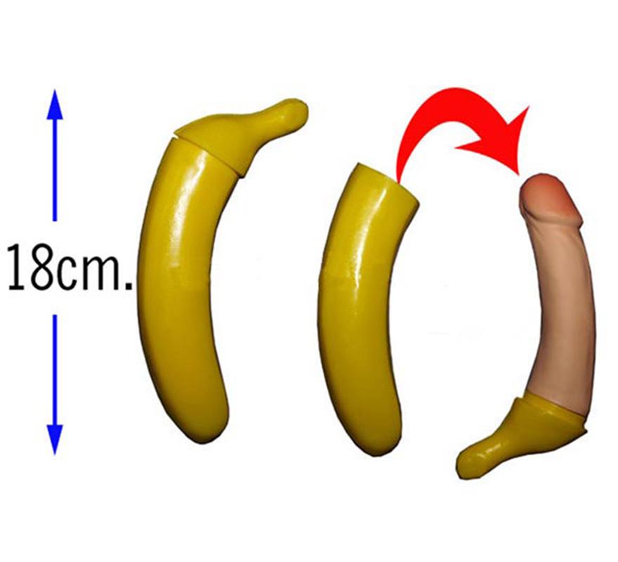 Plátano con sorpresa de 18 cm. Ideal para Despedidas de Soltera.