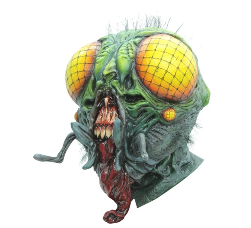 Máscara The Fly La Mosca para Halloween. Alta calidad. Fabricada en látex artesanalmente por una empresa que hace efectos especiales para Hollywood.