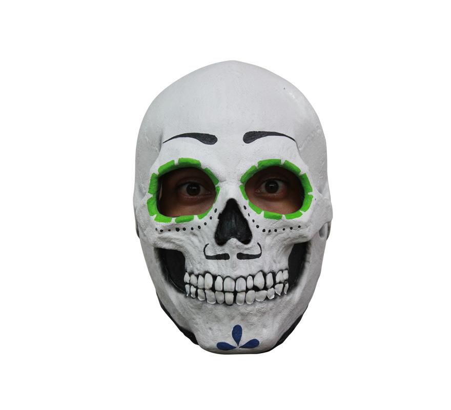 Máscara Catrin Día de los Difuntos para Halloween. Alta calidad. Fabricada en látex artesanalmente por una empresa que hace efectos especiales para Hollywood.