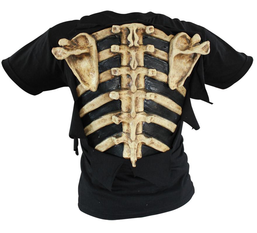 Camiseta Huesos Bones de Látex para Halloween. Alta calidad. Fabricada en látex artesanalmente por una empresa que hace efectos especiales para Hollywood.
