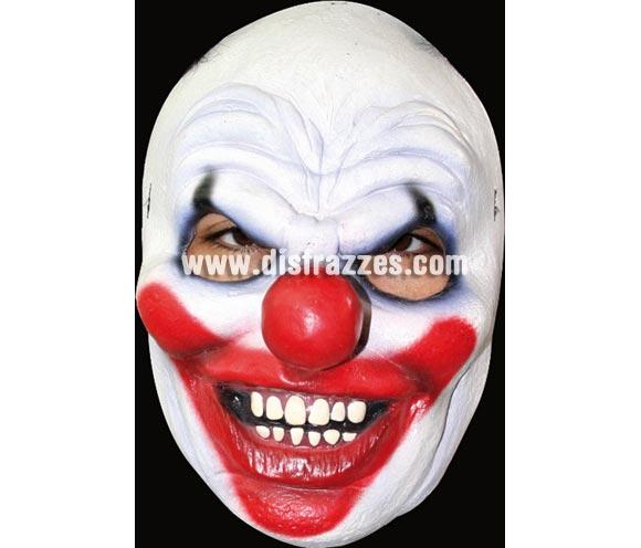 Máscara o Careta de Payaso látex. Alta calidad. Fabricada en látex artesanalmente por una empresa que hace efectos especiales para Hollywood.
