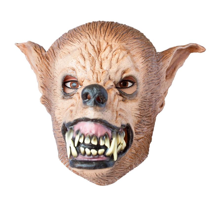 Máscara Hombre Lobo Económica para Halloween. Licántropo. Alta calidad. Fabricada en látex artesanalmente por una empresa que hace efectos especiales para Hollywood