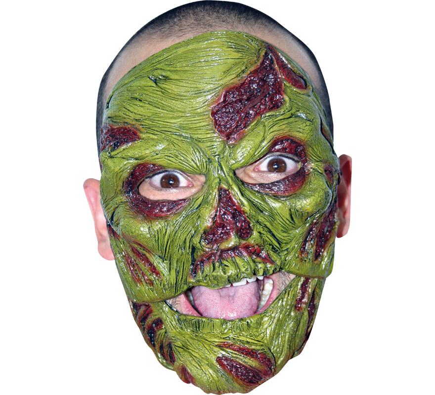 Máscara Zombie Boca Móvil para Halloween. Alta calidad. Fabricada en látex artesanalmente por una empresa que hace efectos especiales para Hollywood. La boca se mueve cuando hablas.