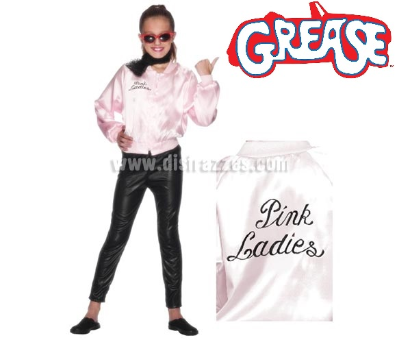 Chaqueta Pink Lady de Grease con logo para niña 9 a 12 años