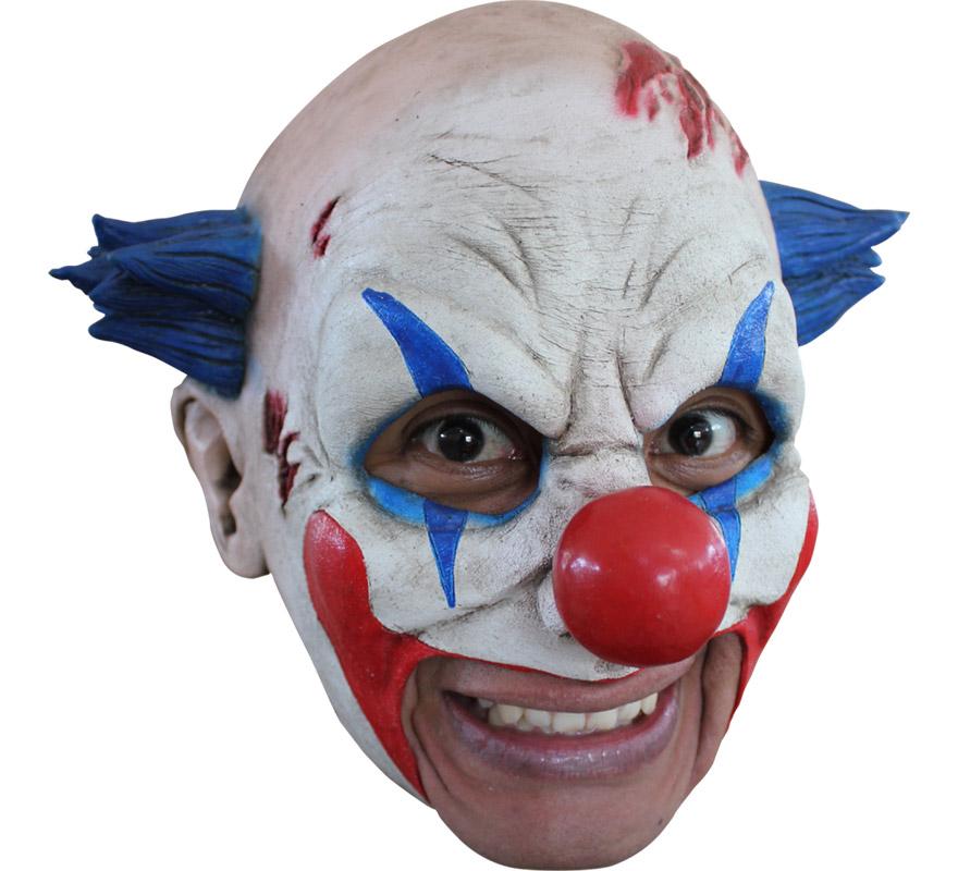Máscara Chinless Clown de látex para Halloween. Alta calidad. Fabricada en látex artesanalmente por una empresa que hace efectos especiales para Hollywood. Máscara de Payaso sin mentón para dar terror en Halloween. Original y novedosa máscara con la que se puede beber y fumar sin ningún problema.