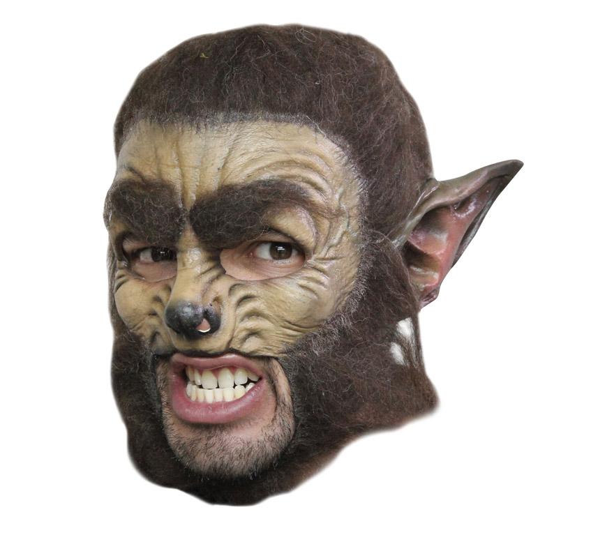 Máscara Wolf Deluxe de látex para Halloween. Alta calidad. Fabricada en látex artesanalmente por una empresa que hace efectos especiales para Hollywood. Máscara de Hombre Lobo de lujo para dar terror en Halloween.
