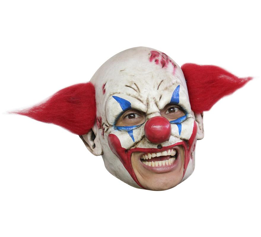Máscara Clown Deluxe de látex para Halloween. Alta calidad. Fabricada en látex artesanalmente por una empresa que hace efectos especiales para Hollywood. Máscara de Payaso de lujo  para dar terror en Halloween.
