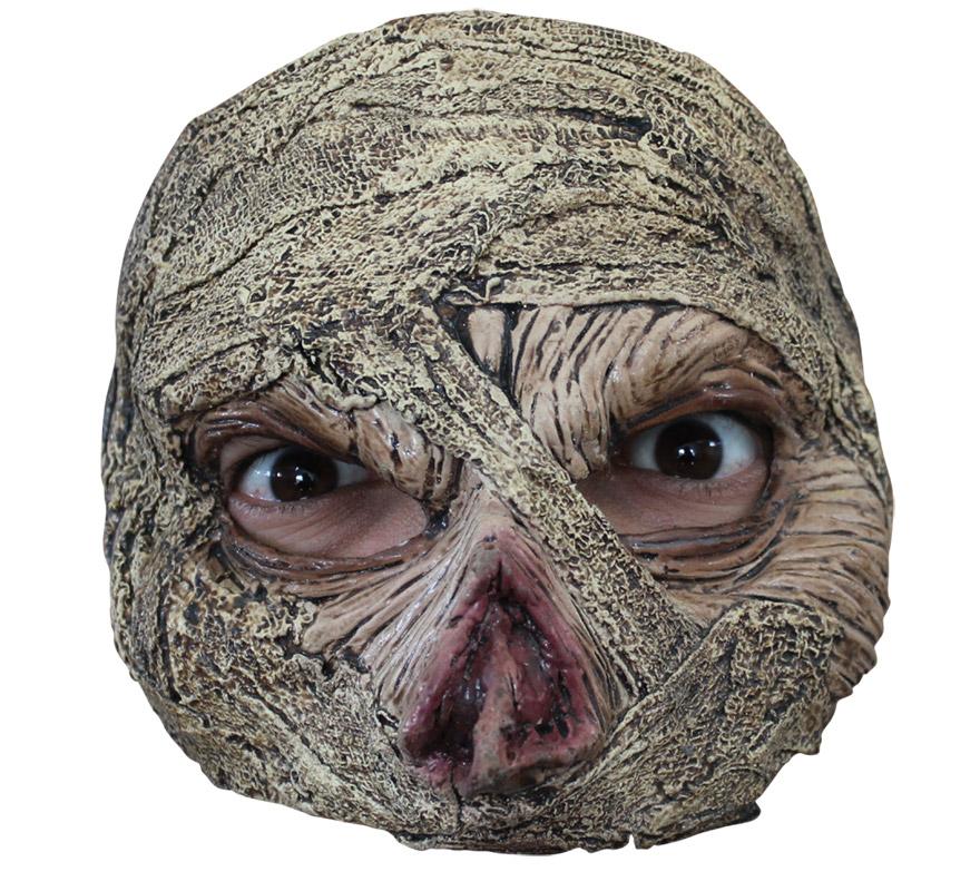 Media Máscara Mummy Momia para Halloween. Alta calidad. Fabricada en látex artesanalmente por una empresa que hace efectos especiales para Hollywood.