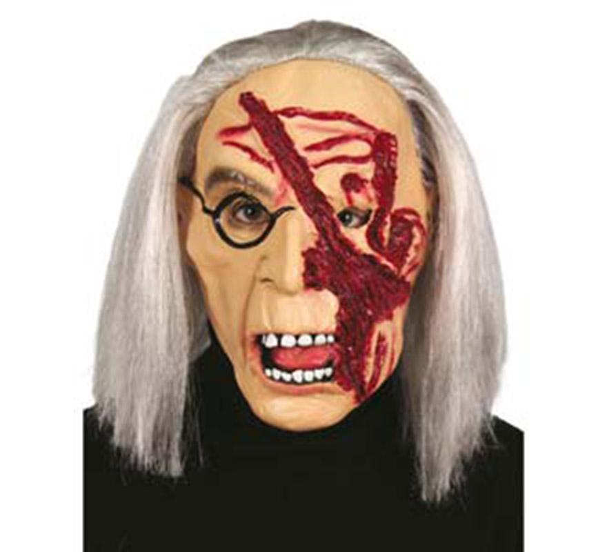 Careta de Vieja con cicatriz para Halloween.
