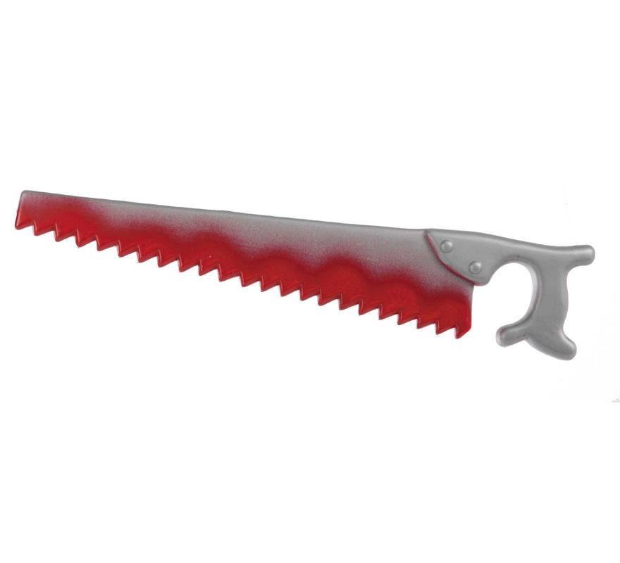 Serrucho de plástico para Halloween de 52cm. que sirve tanto como arma, como también para decorar en Halloween.