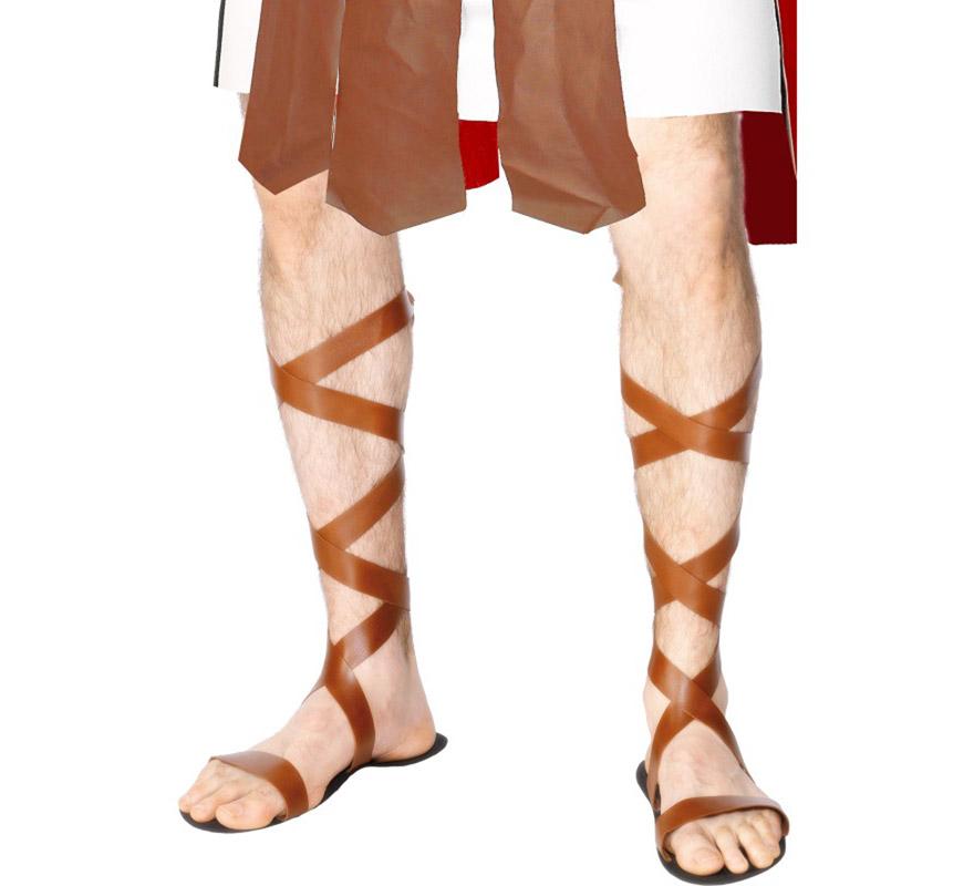 Sandalias de Romano o Egipcio de EVA de 28 cm. Ideal como complemento para el disfraz de Centurión o de Guerrero para Navidad.