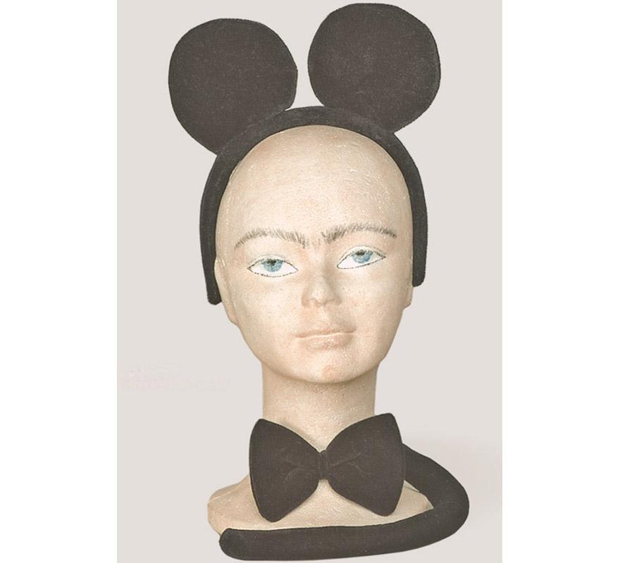 Complemento Mickey (3 piezas). Compuesto de Diadema con Orejas, lazo y cola