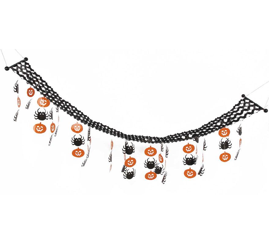 Guirnalda Calabazas para decoración de Halloween de 215x34 cm.