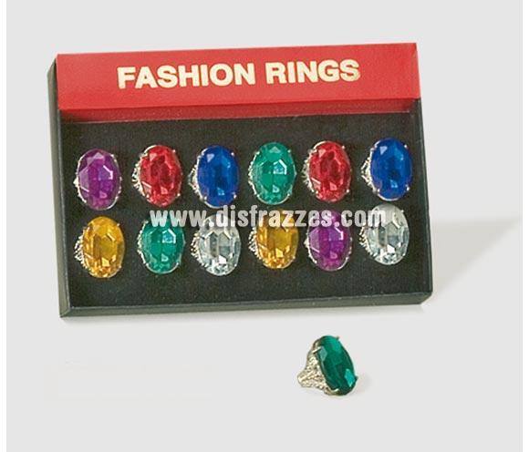 Sortija Gran Piedra LUXE. Precio por unidad, se venden por separado. Colores surtidos.