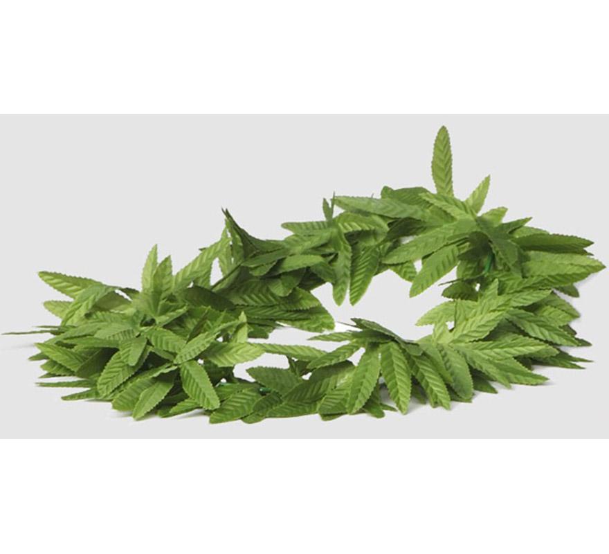 Collar hojas de Marihuana de tela.