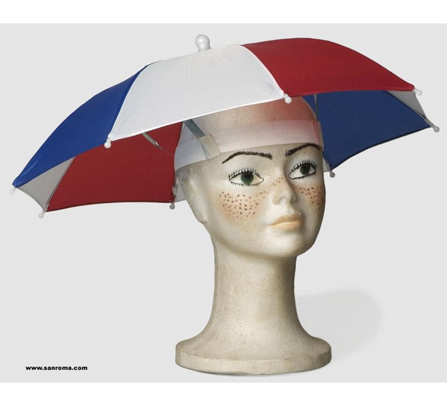 Parasol cabeza plegable. Divertido y práctico para ver partidos que sean en exterior, por ejamplo de Fútbol , Tenis, etc. etc.