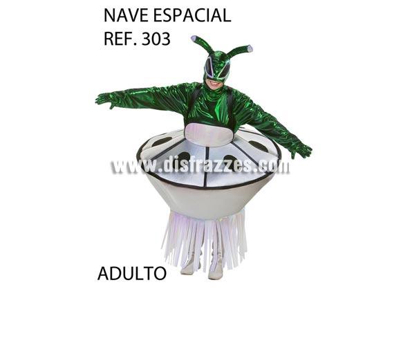 Disfraz de Extraterrestre con Nave Espacial adultos. Talla Universal de adultos, ideal para Grupos, Peñas y Comparsas, consultar posibilidad de hacer más tallas y precio según la cantidad.